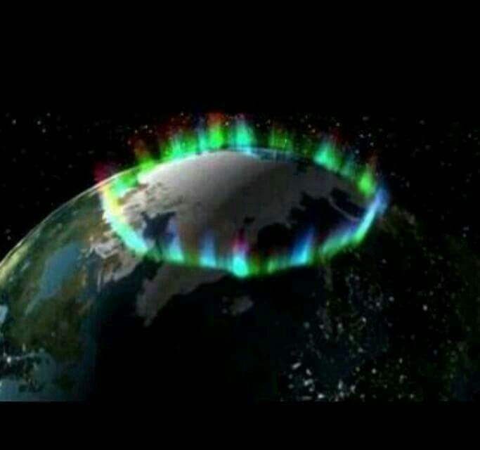 aurora-australis norther lights from space