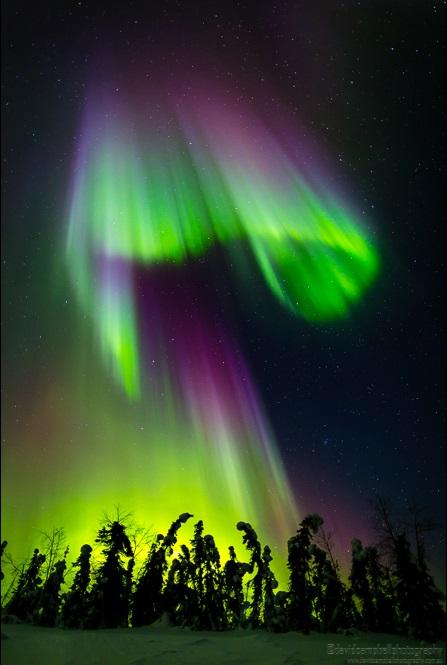Aurora Borealis during the 2013 March 17th CME event at Fairbanks Alaska